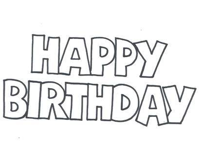 printable happy birthday signs to color ; free-printable-happy-birthday-stencil_545738