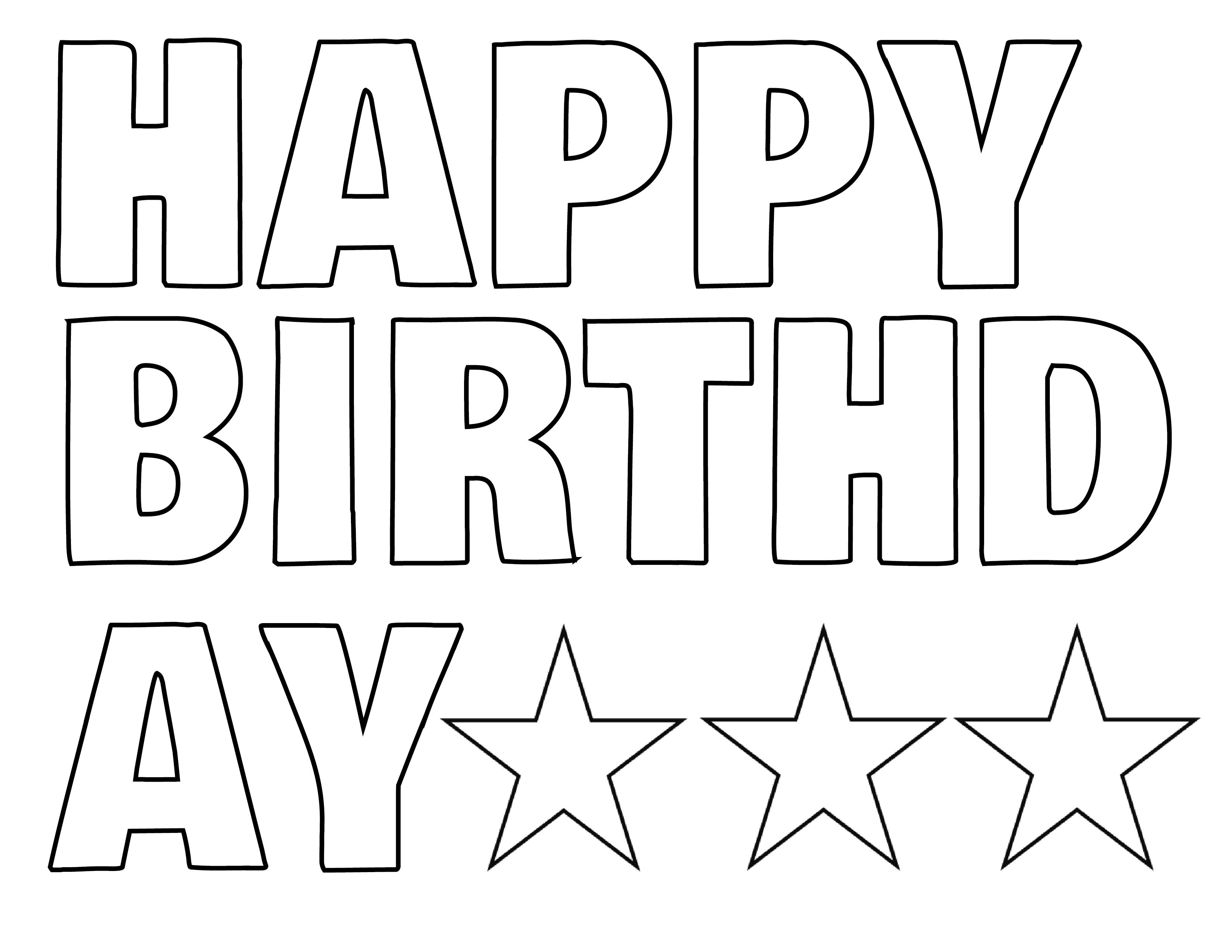printable happy birthday signs to color ; happy-birthday-banner