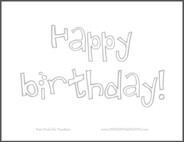 printable happy birthday signs to color ; happy-birthday-sign-to-color
