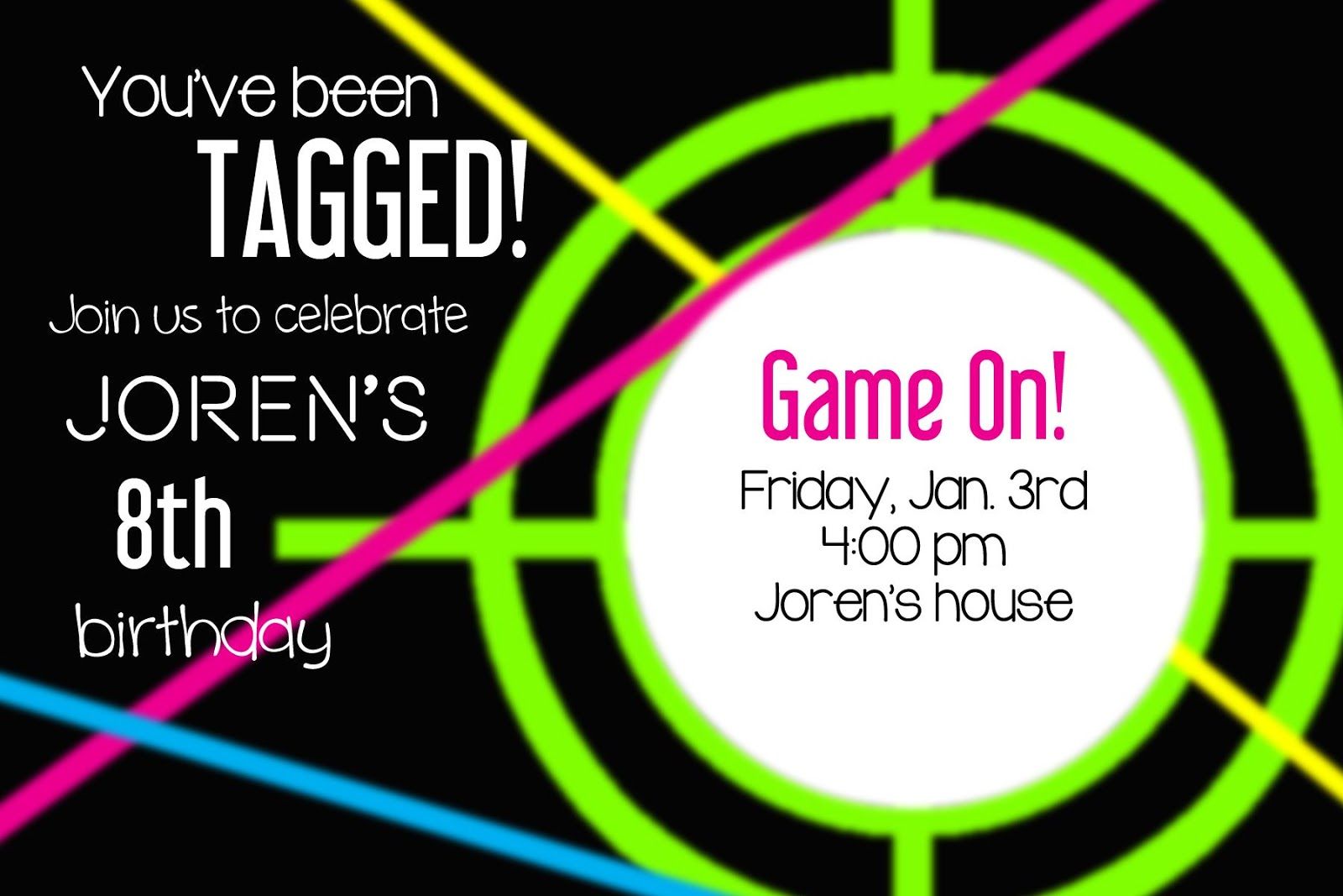 printable laser tag birthday party invitations ; 1000_images_about_laser_tag_party_on_pinterest_1