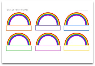 printable name tags for birthday party ; Rainbowpartynamethankyoutags-300