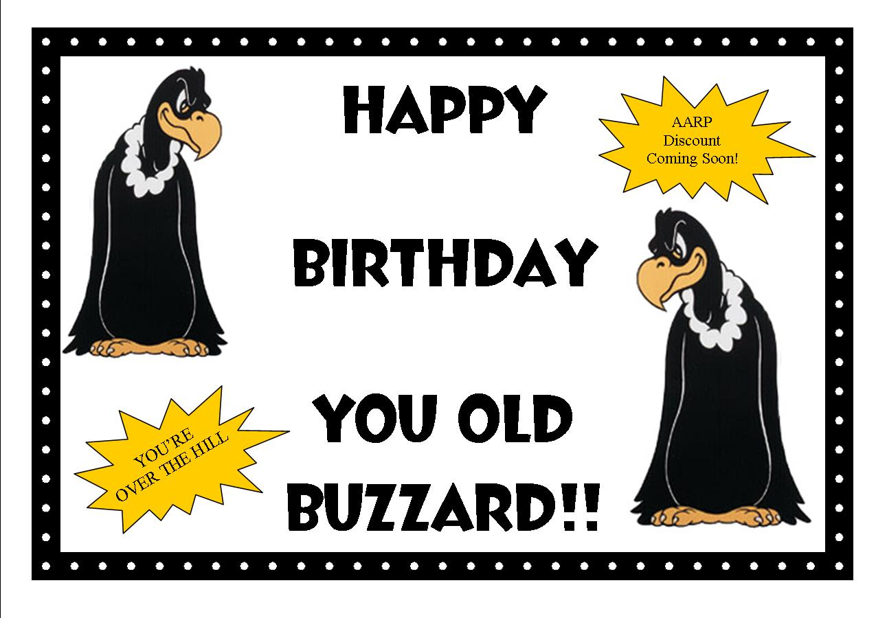 printable over the hill birthday signs ; buzzardprintables-front