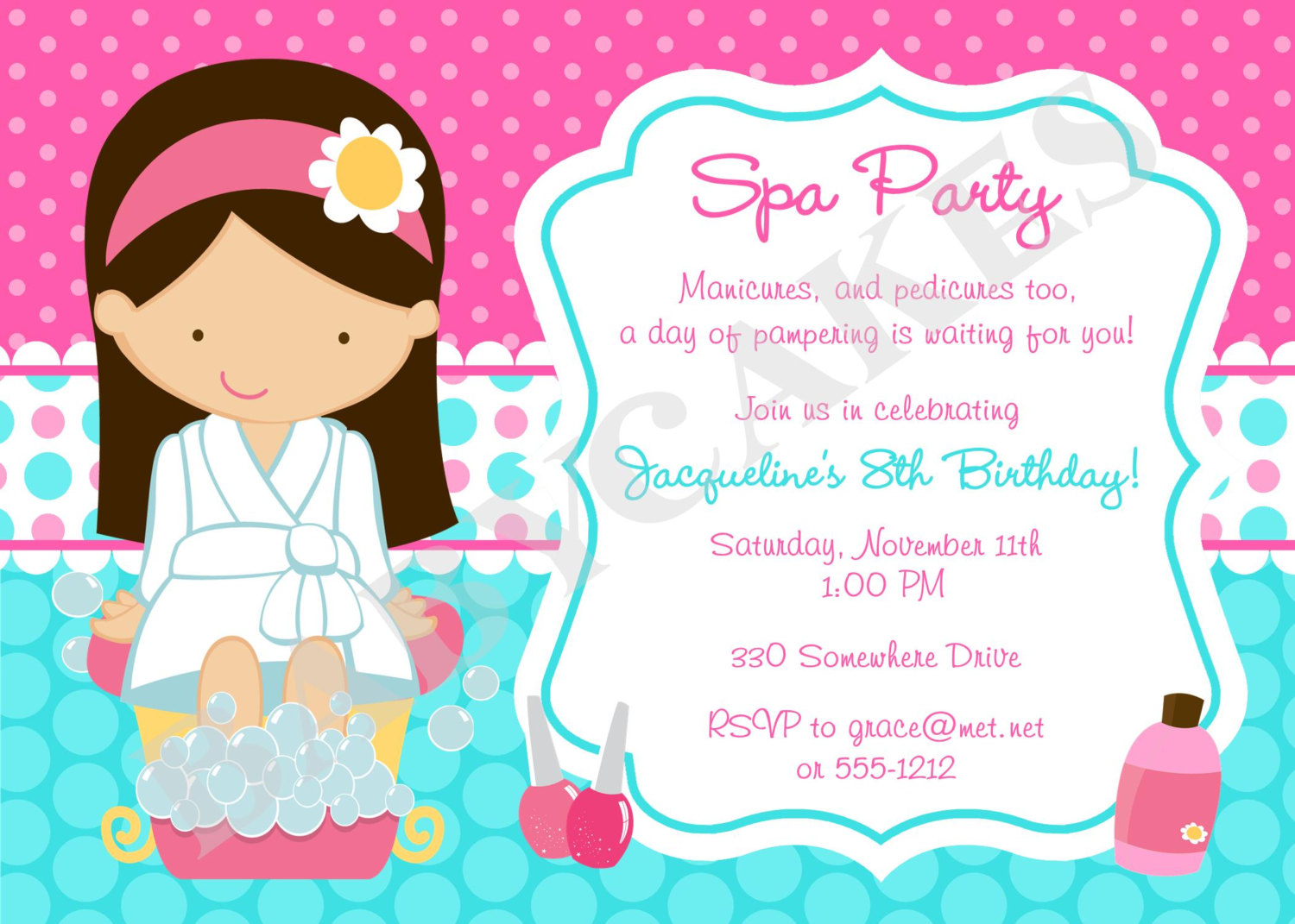 spa themed birthday party invitations printable ; spa-party-invitations-and-get-ideas-how-to-make-stunning-Party-invitation-appearance-1