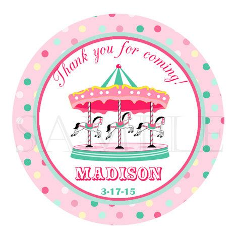 sticker birthday tags ; 4dded120ad52ef5e89f3652cf811d388--carnival-cupcakes-round-labels