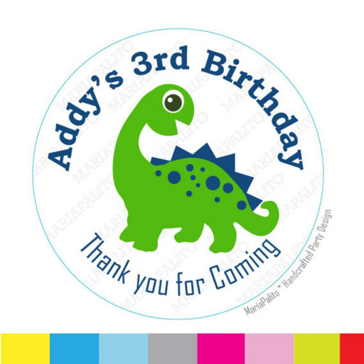sticker birthday tags ; dinosaur_sticker_thanks_for_coming_to_my_birthday_party_birthday_stickers_printed_round_stickers_tags_labels_a983_faafe58a