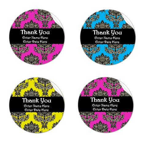 thank you birthday tags template ; Thank-You-Label-Template