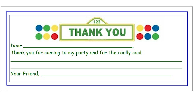 thank you birthday tags template ; kids-thank-you-for-coming-cards-dear-you-for-coming-to-my-party-and-for-the-really-coal-good-design-very-interesting-and-simple