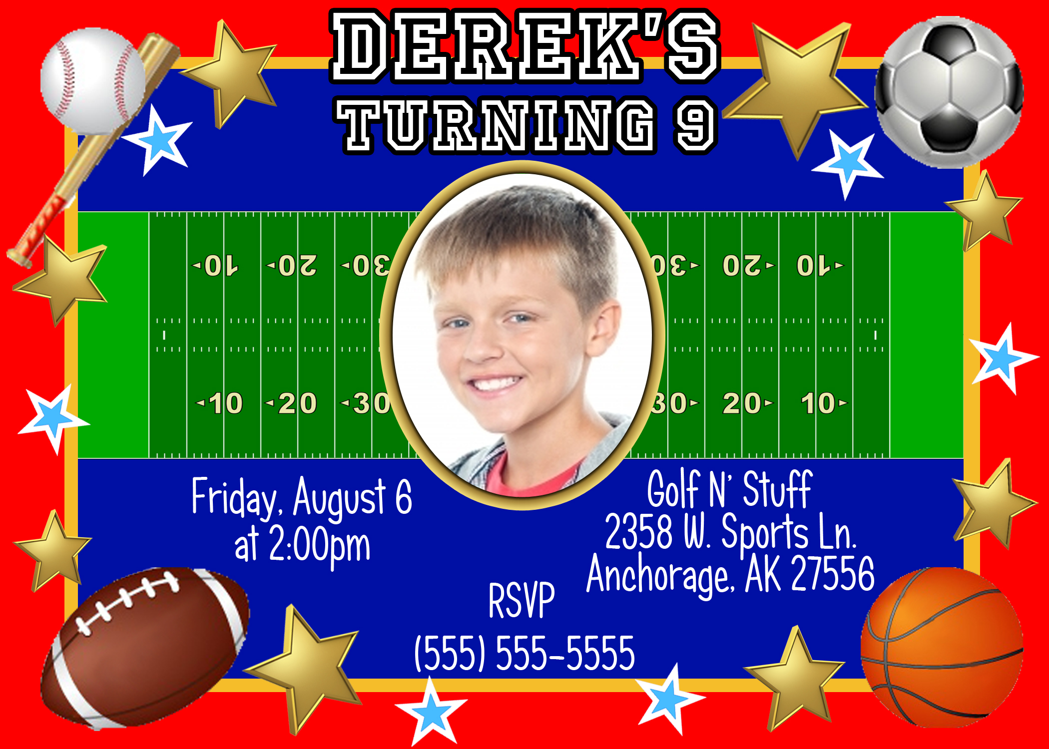 themed birthday invitations ; Sports-Themed-Birthday-Invitations-combined-with-your-creativity-will-make-this-looks-awesome-1