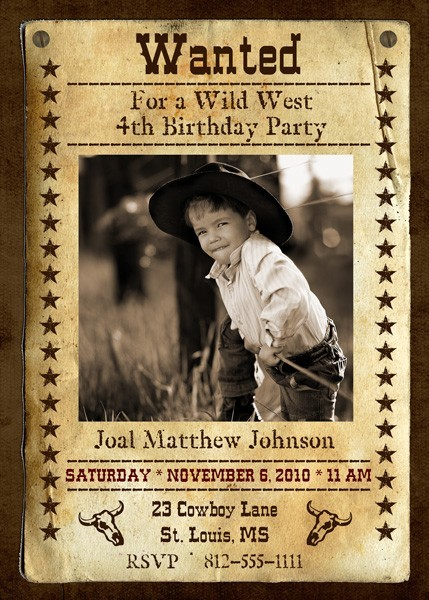 wanted poster birthday invitations ; 12272316341307d96cab35654aaeae1f