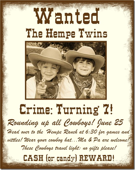 wanted poster birthday invitations ; Wanted-Posters-Page-001