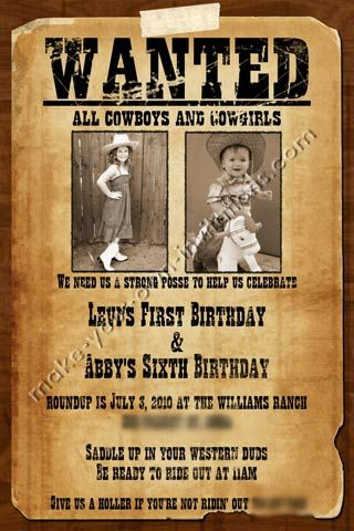 wanted poster birthday invitations ; printable-wanted-poster-wanted-poster-invitations-for-a-shared-wanted-invitation-template