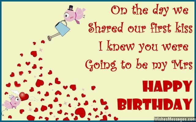 wife birthday greeting card message ; Cute-birthday-card-message-to-a-wife-from-husband