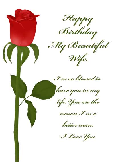 wife birthday greeting card message ; free-printable-birthday-cards-for-him-red-rose-with-sayings-greeting-sweet-words-simple-white-background-birthday-card-wife