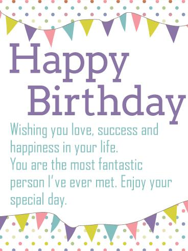 wish you happy birthday message ; wc01
