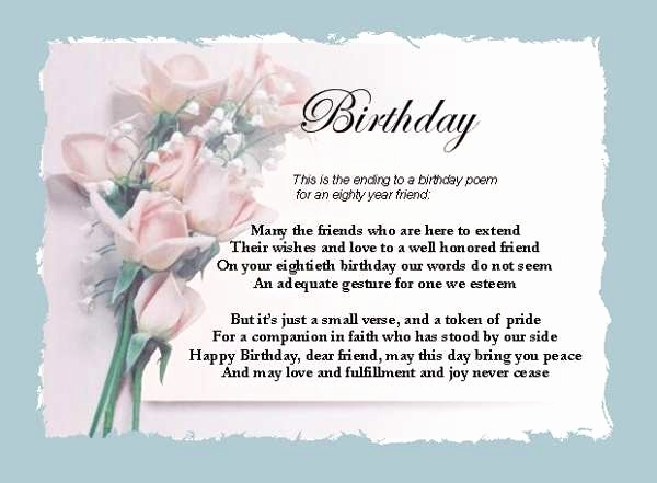 Wishing Best Friend Happy Birthday Poem Friends 21st Quotes