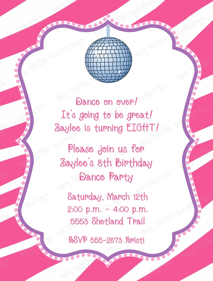 10th birthday invitation cards free printables ; birthday-party-invitations-free-10-dance-disco-invitation-with-envelopes-free-return-address-labels-7