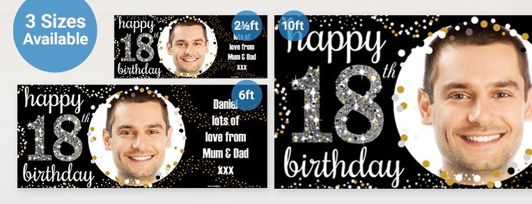 18th birthday banners personalized with photo ; 18th-Birthday-personalised-banners_L3