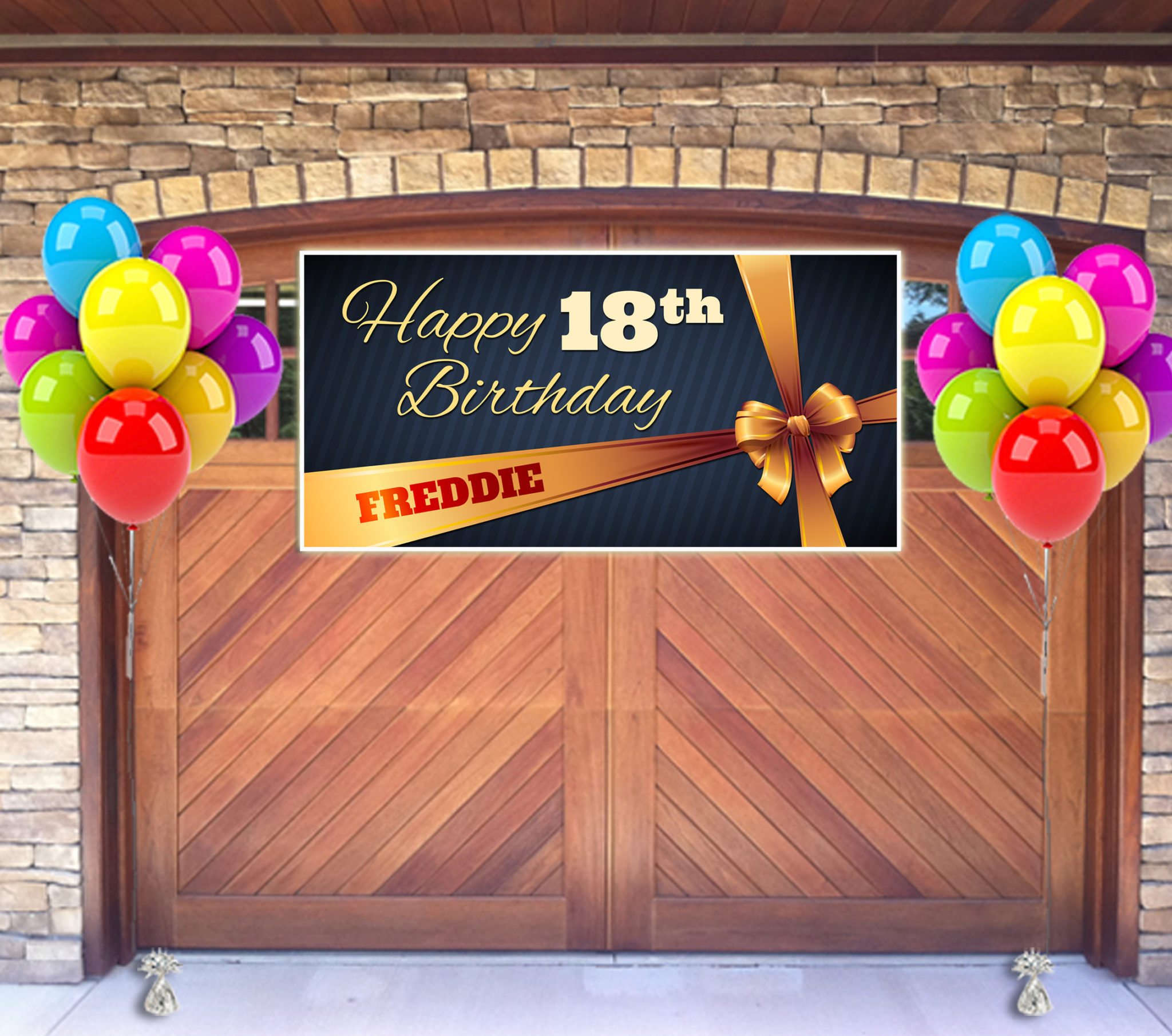18th birthday banners personalized with photo ; 18th-birthday-banner-08-