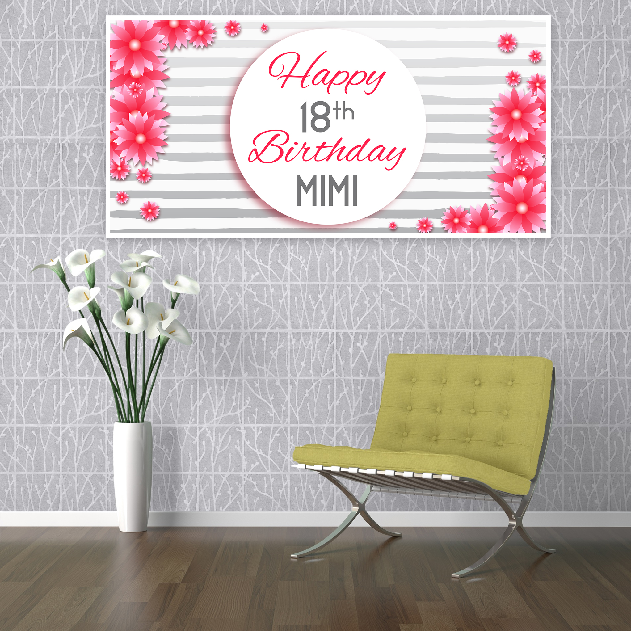 18th birthday banners personalized with photo ; 18th-birthday-banner-25-
