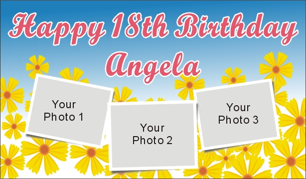 18th birthday banners personalized with photo ; 201007132350