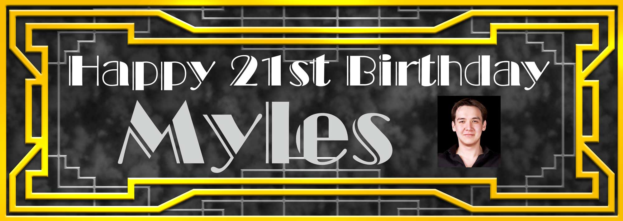 18th birthday banners personalized with photo ; Gatsby