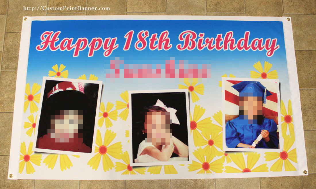 18th birthday banners personalized with photo ; IMG_6875q