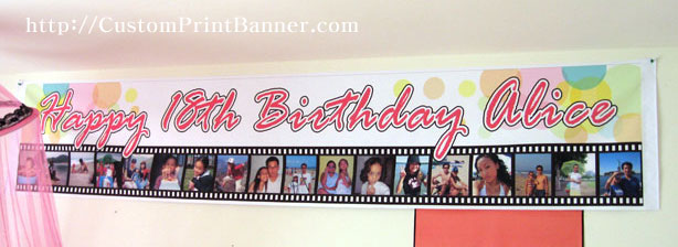 18th birthday banners personalized with photo ; IMG_9085s