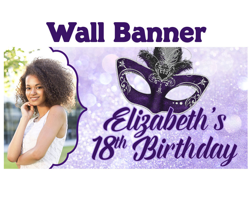18th birthday banners personalized with photo ; il_fullxfull