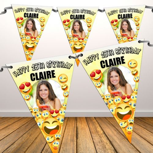 18th birthday banners personalized with photo ; personalised-emoji-happy-birthday-flag-photo-bunting-banner-n81-any-age-16306-p%5bekm%5d500x500%5bekm%5d