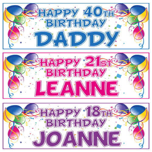 18th birthday banners personalized with photo ; s-l1000