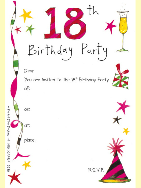 18th birthday invitation cards printable ; bday-idea-2