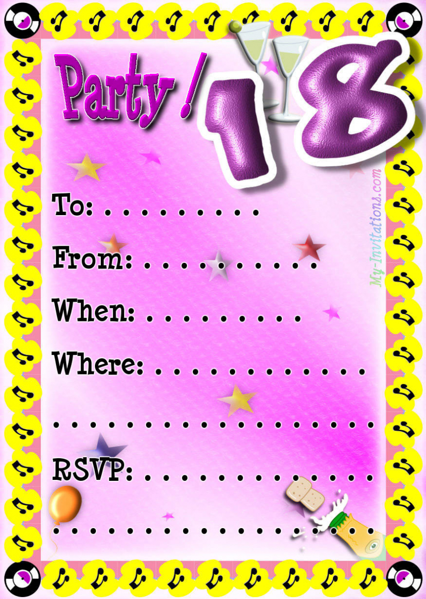18th birthday invitation cards printable ; funny-18th-birthday-cards-printable-free-saflly-free-printable-free-printable-18th-birthday-invitations
