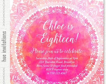 18th birthday invitation cards printable ; il_340x270