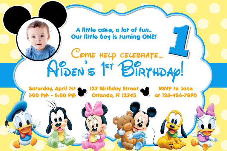 1st birthday card invitation designs free ; Cute-Baby-Mickey-Mouse-Clubhouse-Birthday-Invitations