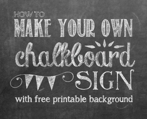 1st birthday chalkboard poster template ; HOW+TO+MAKE+A+CHALKBOARD+SIGN+title