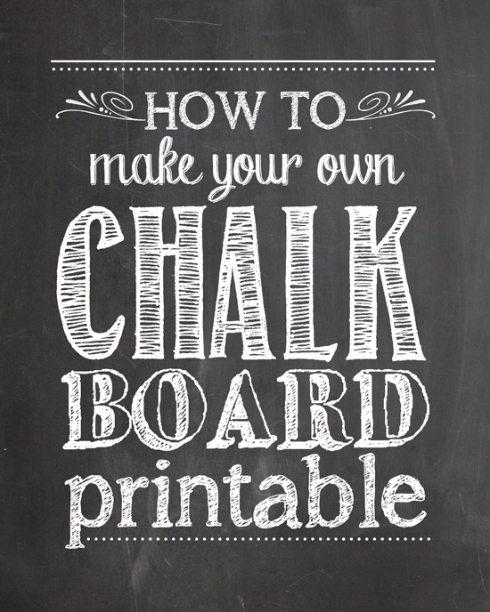 1st birthday chalkboard poster template ; how-to-make-chalkboard-printables