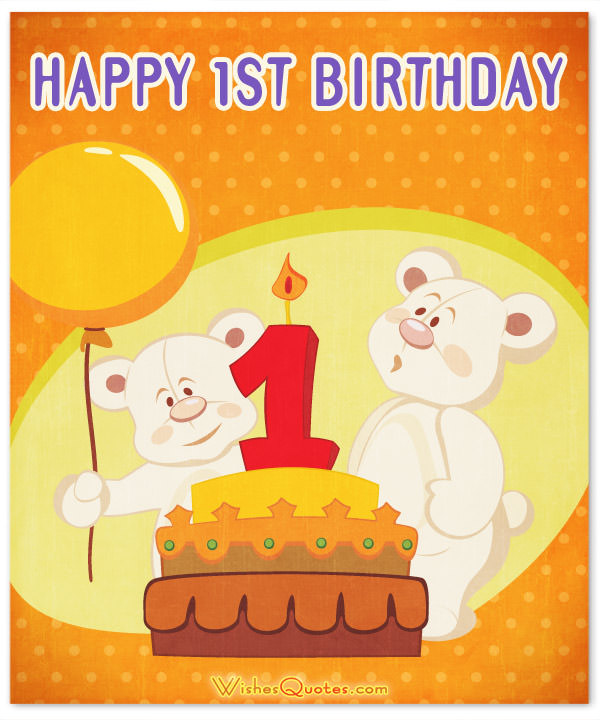 1st birthday greeting messages ; 1st-birthday-card