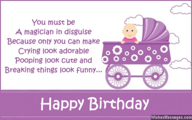 1st birthday greeting messages ; Funny-1st-birthday-card-message