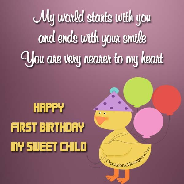 1st birthday greeting messages ; Happy-1st-birthday-messages