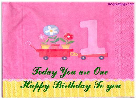 1st birthday greeting messages ; firstbirthday-2