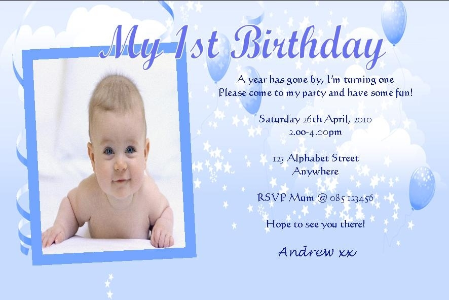 1st birthday invitation card design ; birthday-invitation-card-for-baby-boy-ins-ssrenterprises-co-with-regard-to-1st-birthday-card-invitation-design