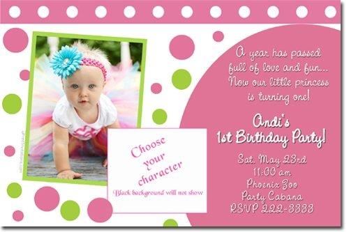 1st birthday invitation card design ; minnie-mouse-birthday-invitations-candy-wrappers-thank-you-cards-in-1st-birthday-invitation-card-design-blank-for-girls