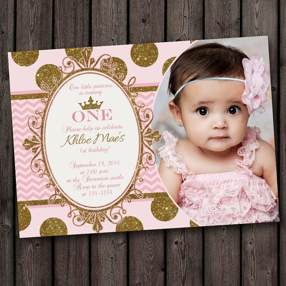 1st birthday invitation princess theme ; Princess-1St-Birthday-Invitations-combined-with-your-creativity-will-make-this-looks-awesome-4