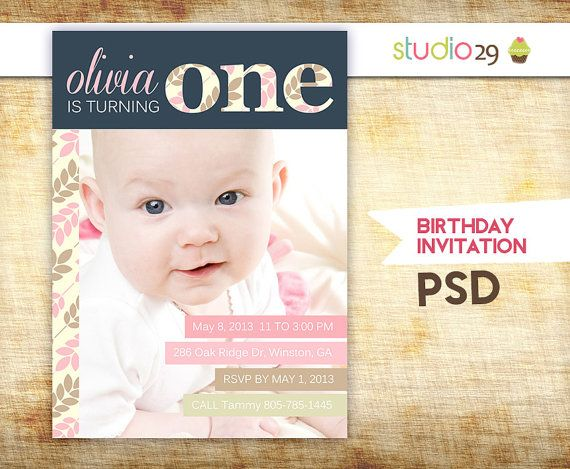 1st birthday invitation templates photoshop ; 0d7c261dd6fcf555984e300ed2428004--kid-photos-party-photos