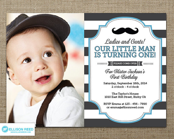 1st birthday invitation templates photoshop ; Photo-Mustache-Birthday-Invitations