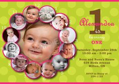 1st birthday invitation templates photoshop ; e036a46876fcdd5c8c290eaa53eb5300--free-birthday-invitations-photo-invitations