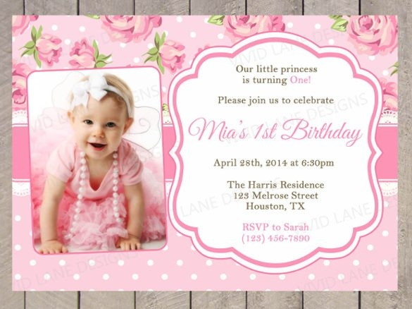 1st birthday invitations templates with photo free ; 1st-birthday-invitation-template-photo-birthday-invitation-throughout-1st-birthday-invitation-card-template-free-download