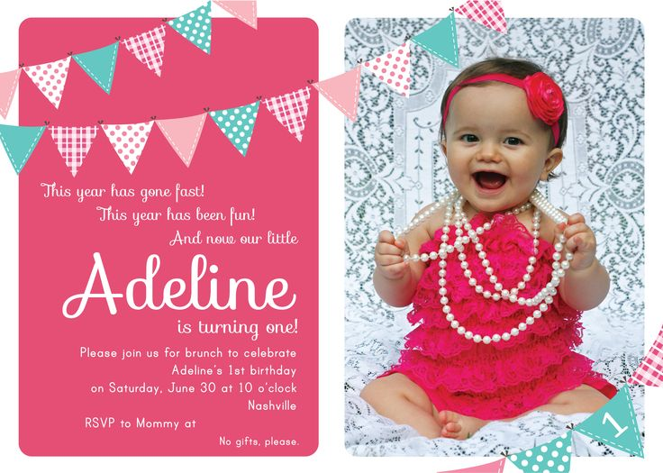 1st birthday invitations templates with photo free ; 6ee76d21dc5389c631ea949593aaf582--first-birthday-invitations-girl-first-birthdays