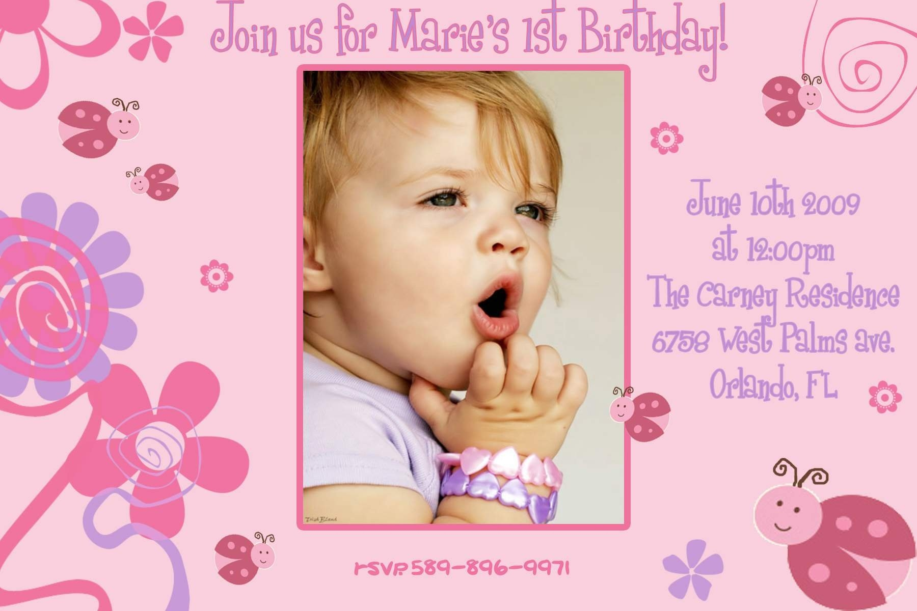 1st birthday invitations templates with photo free ; online-birthday-invitations-templates-free-commonpence-co-intended-for-first-birthday-invitation-card-template