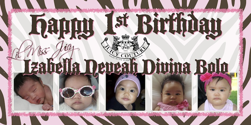 1st birthday photo banner ideas ; sample-4ft-x-8ft-banner-lil-miss-juicy